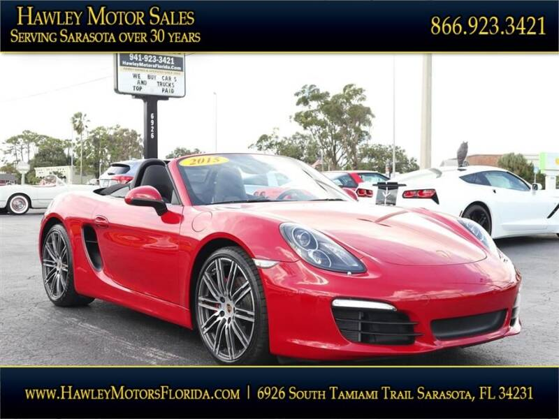 2015 Porsche Boxster for sale at Hawley Motor Sales in Sarasota FL