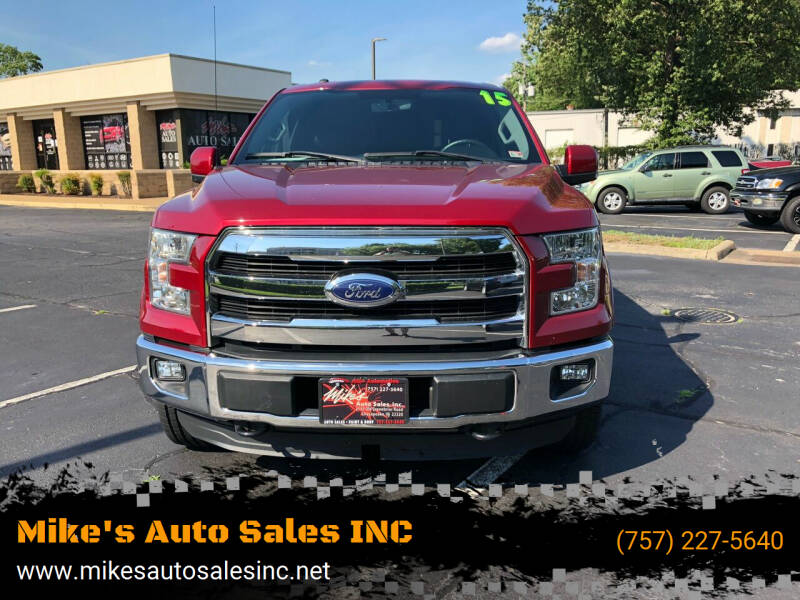 2015 Ford F-150 for sale at Mike's Auto Sales INC in Chesapeake VA