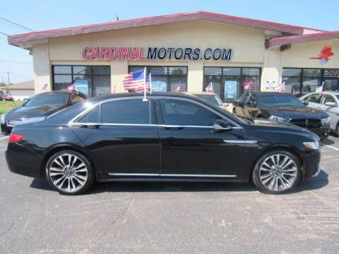 2017 Lincoln Continental for sale at Cardinal Motors in Fairfield OH