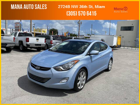 2011 Hyundai Elantra for sale at MANA AUTO SALES in Miami FL