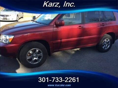 2005 Toyota Highlander for sale at Karz INC in Funkstown MD
