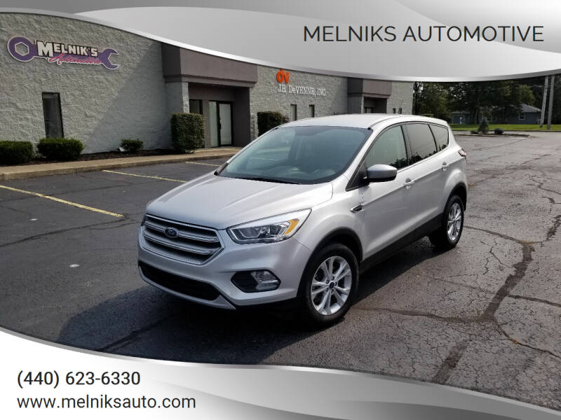 2017 Ford Escape for sale at Melniks Automotive in Berea OH