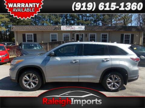 2014 Toyota Highlander for sale at Raleigh Imports in Raleigh NC