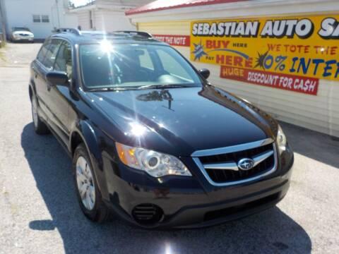 2008 Subaru Outback for sale at SEBASTIAN AUTO SALES INC. in Terre Haute IN