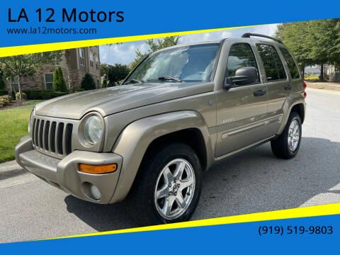 2004 Jeep Liberty for sale at LA 12 Motors in Durham NC