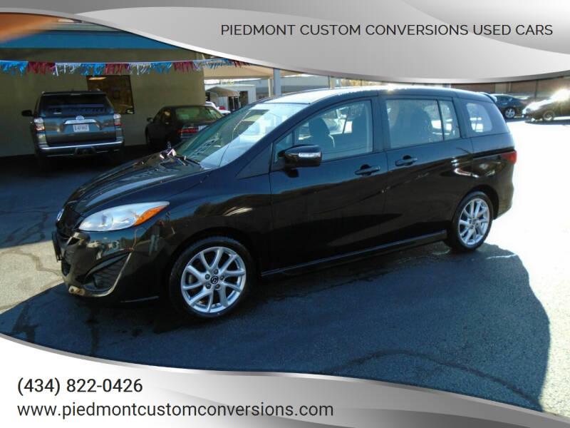 2013 Mazda MAZDA5 for sale at PIEDMONT CUSTOM CONVERSIONS USED CARS in Danville VA