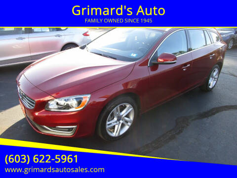 2015 Volvo V60 for sale at Grimard's Auto in Hooksett, NH