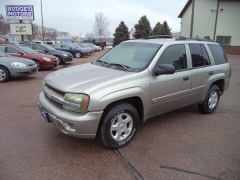2002 Chevrolet TrailBlazer for sale at Budget Motors in Sioux City IA