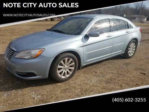 2012 Chrysler 200 for sale at NOTE CITY AUTO SALES in Oklahoma City OK