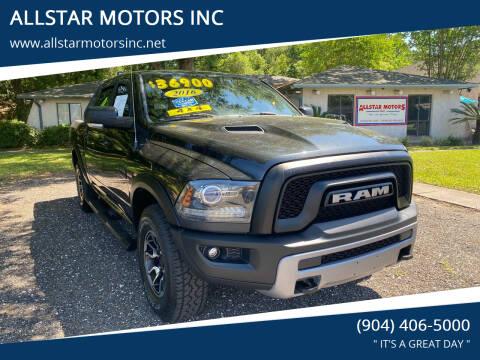 2016 RAM Ram Pickup 1500 for sale at ALLSTAR MOTORS INC in Middleburg FL