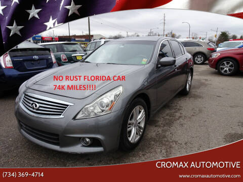 2012 Infiniti G37 Sedan for sale at Cromax Automotive in Ann Arbor MI