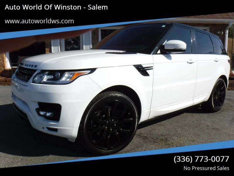 2014 Land Rover Range Rover Sport for sale at Auto World Of Winston - Salem in Winston Salem NC