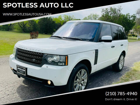 2011 Land Rover Range Rover for sale at SPOTLESS AUTO LLC in San Antonio TX