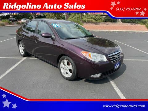 2008 Hyundai Elantra for sale at Ridgeline Auto Sales in Saint George UT