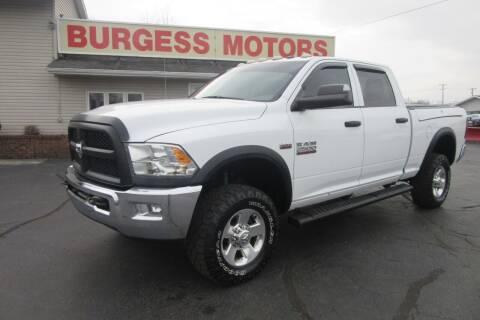 2014 RAM Ram Pickup 2500 for sale at Burgess Motors Inc in Michigan City IN