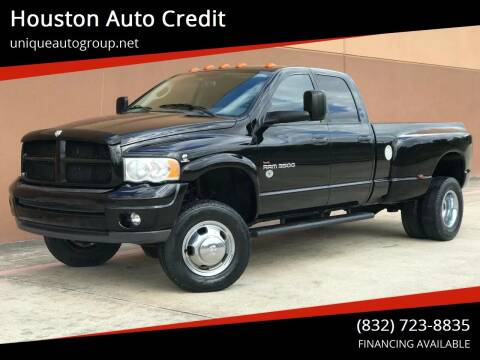 2004 Dodge Ram Pickup 3500 for sale at Houston Auto Credit in Houston TX
