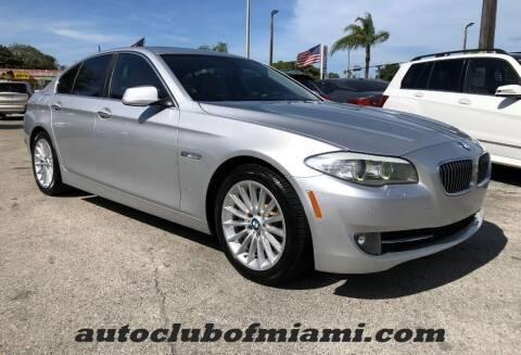 2013 BMW 5 Series for sale at AUTO CLUB OF MIAMI in Miami FL