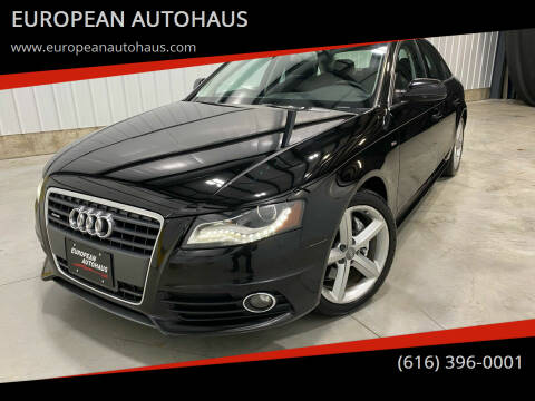 2012 Audi A4 for sale at EUROPEAN AUTOHAUS in Holland MI