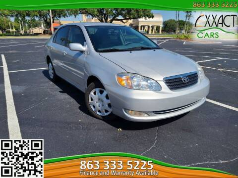 2007 Toyota Corolla for sale at Exxact Cars in Lakeland FL