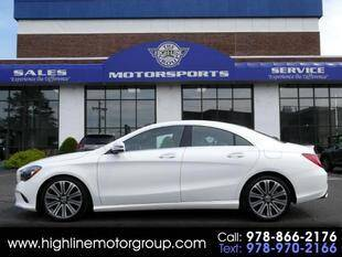 2018 Mercedes-Benz CLA for sale at Highline Group Motorsports in Lowell MA