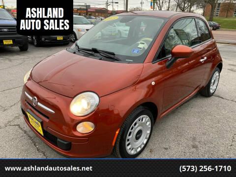 2015 FIAT 500 for sale at ASHLAND AUTO SALES in Columbia MO