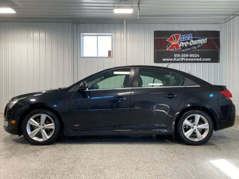 2012 Chevrolet Cruze for sale at Karl Pre-Owned - Webster City in Webster City IA
