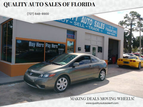 2006 Honda Civic for sale at QUALITY AUTO SALES OF FLORIDA in New Port Richey FL