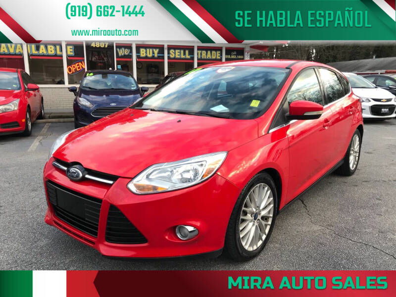 2012 Ford Focus for sale at Mira Auto Sales in Raleigh NC