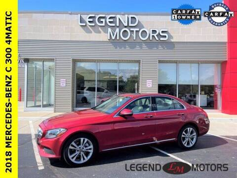 2018 Mercedes-Benz C-Class for sale at Legend Motors of Waterford in Waterford MI