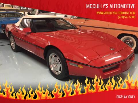 1987 Chevrolet Corvette for sale at McCully's Automotive - Classic Cars in Benton KY