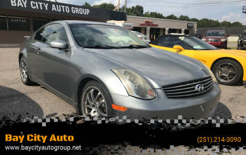 2005 Infiniti G35 for sale at Bay City Auto's in Mobile AL