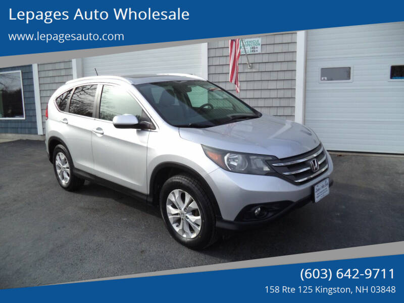 2013 Honda CR-V for sale at Lepages Auto Wholesale in Kingston NH