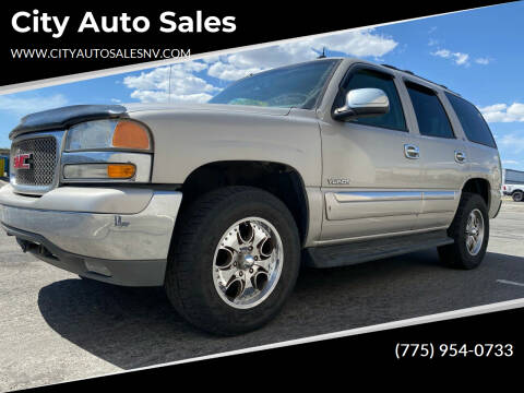 2004 GMC Yukon for sale at City Auto Sales in Sparks NV