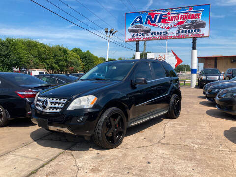 2011 Mercedes-Benz M-Class for sale at ANF AUTO FINANCE in Houston TX