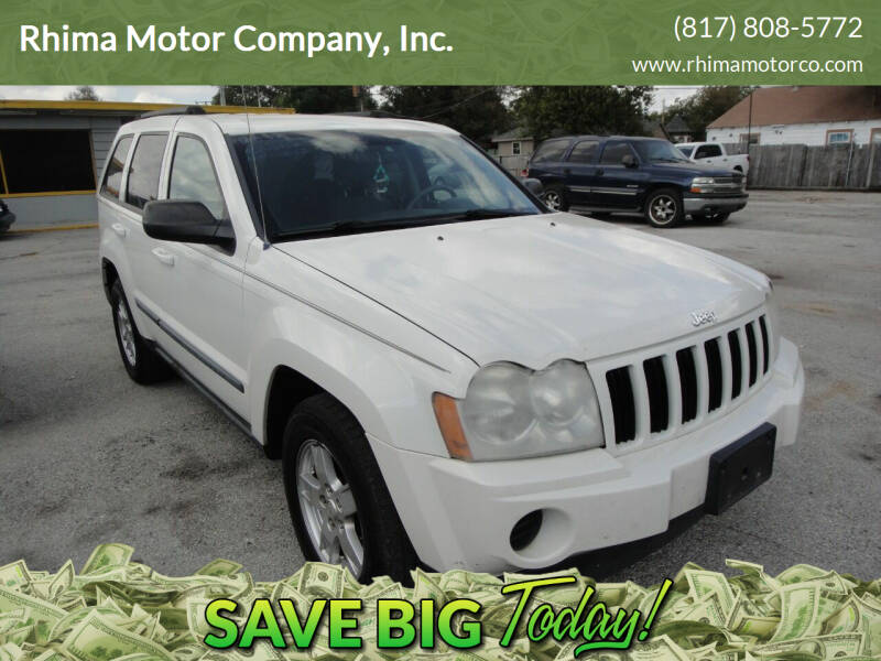 2007 Jeep Grand Cherokee for sale at Rhima Motor Company, Inc. in Haltom City TX