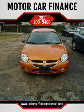2005 Dodge Neon for sale at MOTOR CAR FINANCE in Houston TX