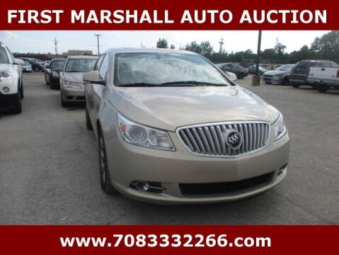 2010 Buick LaCrosse for sale at First Marshall Auto Auction in Harvey IL