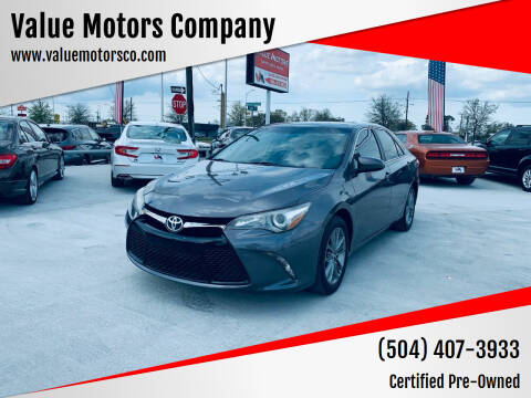2015 Toyota Camry for sale at Value Motors Company in Marrero LA