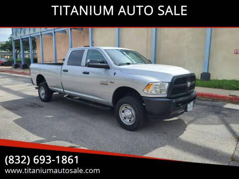 2018 RAM Ram Pickup 2500 for sale at TITANIUM AUTO SALE in Houston TX