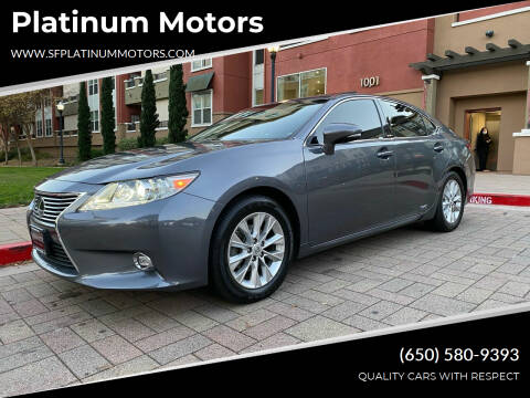 2014 Lexus ES 300h for sale at Platinum Motors in San Bruno CA