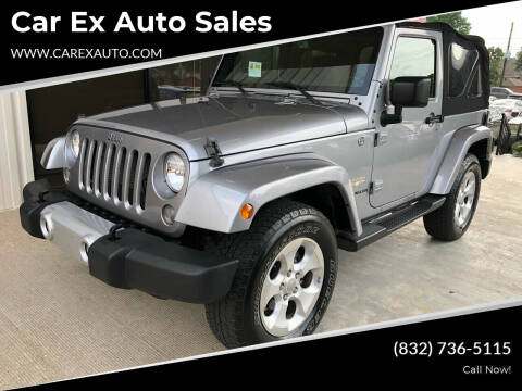 2015 Jeep Wrangler for sale at Car Ex Auto Sales in Houston TX