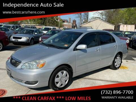 2006 Toyota Corolla for sale at Independence Auto Sale in Bordentown NJ