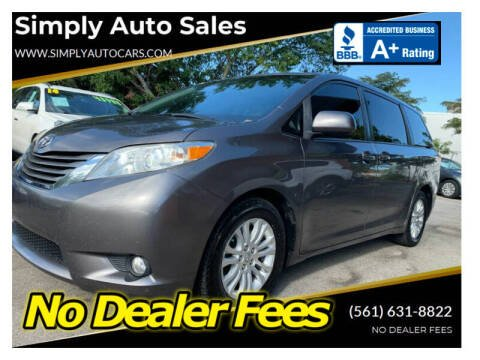 2011 Toyota Sienna for sale at Simply Auto Sales in Palm Beach Gardens FL