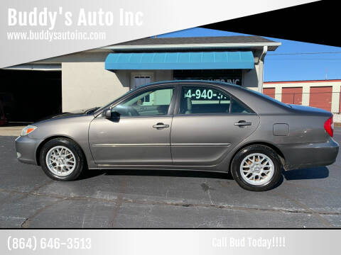 2003 Toyota Camry for sale at Buddy's Auto Inc in Pendleton, SC