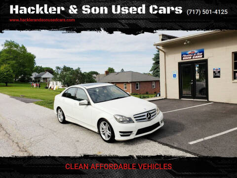 2012 Mercedes-Benz C-Class for sale at Hackler & Son Used Cars in Red Lion PA