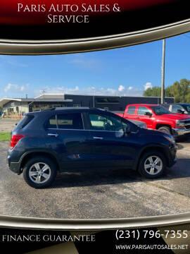 2018 Chevrolet Trax for sale at Paris Auto Sales & Service in Big Rapids MI