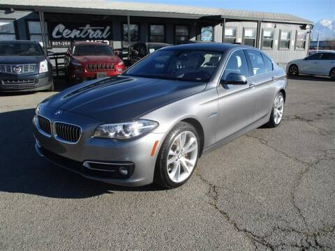 2015 BMW 5 Series for sale at Central Auto in South Salt Lake UT