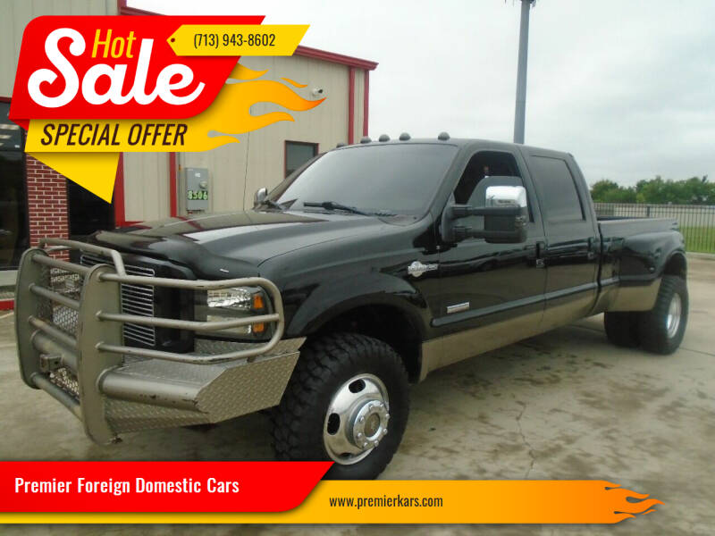 2006 Ford F-350 Super Duty for sale at Premier Foreign Domestic Cars in Houston TX