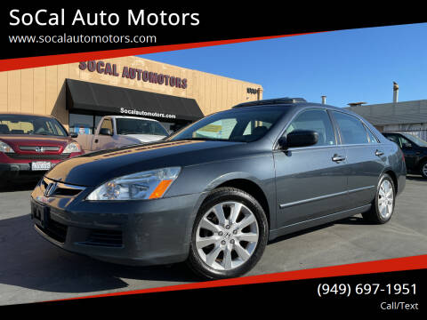 2007 Honda Accord for sale at SoCal Auto Motors in Costa Mesa CA