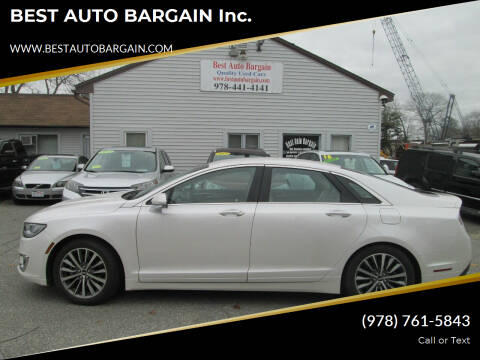 2020 Lincoln MKZ for sale at BEST AUTO BARGAIN inc. in Lowell MA
